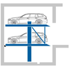 Liftparker N4402 - car stacker with horizontal accessible platforms for indoor garage parking